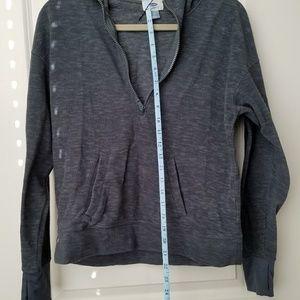 Old Navy Gray Fleece 1/4 Zip Hoodie - S
